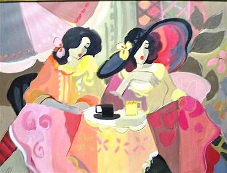 (i) Isaac Maimon Israeli/French, b. 1951 Tea and Conversation