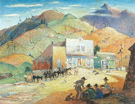 Harrison Cady American, 1877-1970 Slade's Store in the Great Smokies