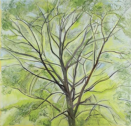 Sylvia Plimack Mangold American, b. 1938 The Linden Tree, 1988