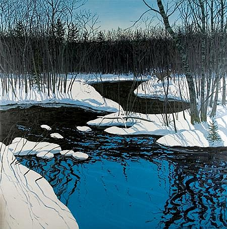 Neil Welliver American, 1929-2005 Unyarded Deer, 1981