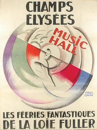 Paul Colin CHAMPS ELYSEES, LA LOIE FULLER Color lithograph