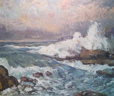 C. Harry Allis American, 1870-1938 Crashing Waves