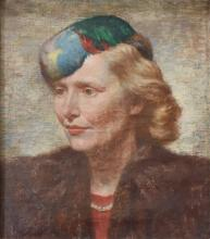 James Ormsbee Chapin American, 1887-1975 Portrait of Aileen Chapin