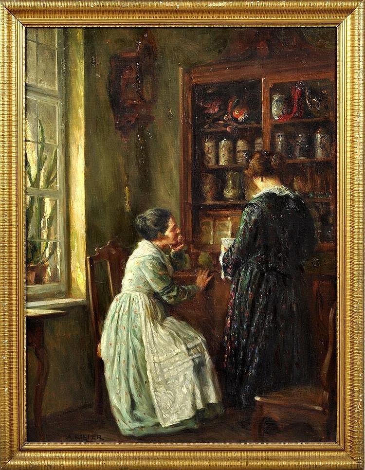 Rieper, August. 1865 Hamburg-1940 MünchenInterieur