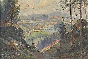 """Quarck, Karl. 1869 Rudolstadt-1950 Dresden""""Blick"""