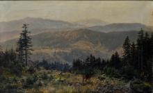 B. Mühlig. Painting '' wide landscape ''