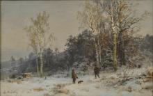 Mühlig, B. '' Winter scene ''