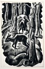 Holzriss, S. Berndt / Berndt, woodcut