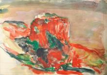 Hubertus Giebe Rhodes Watercolor 1995