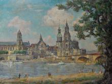 Burkhardt-Untermhaus, Richard. Painting '' Dresden ''