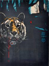Suchodolski Poster, tiger, framed