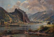 Quarck, Karl Gemälde Schreckenstein / painting