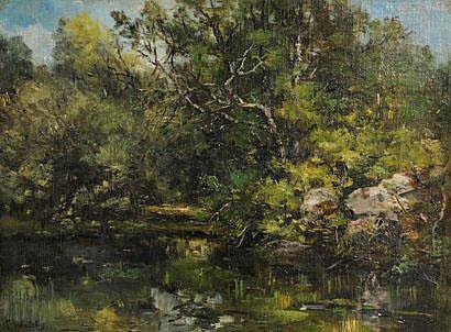 Louis WATELIN (1838 - 1907) Mare de l'Aigrette,