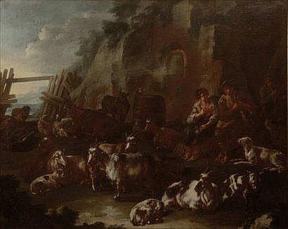 Domenico BRANDI (Naples 1683 - 1736) Bergers