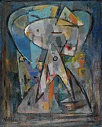 Jean Villeri(1896-1982) Composition abstraite