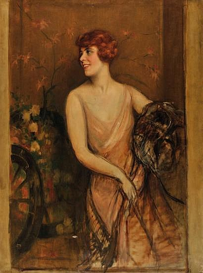 Pierre de BELAIR (1892-1956) Portrait d'élégante