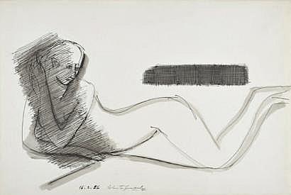 Roberta GONZALEZ (1909-1976) Nu féminin, 1956
