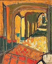 Luciano ALBERTINI (1910-1985) Vue d'intérieur,