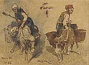 Louis-Adolphe HERVIER (1818-1879) Deux études de