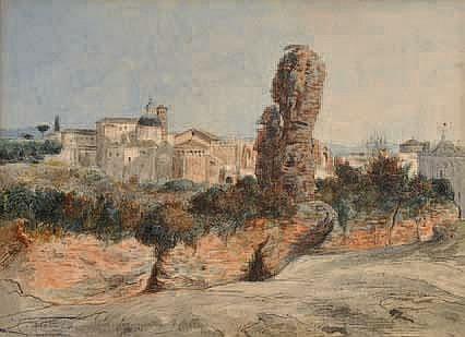 Célestin NANTEUIL (Rome 1813-Marlote 1873) Vue