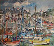 Yvon GRAC (Né en 1945) Petit port de Saint