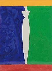 Aki KURODA (né en 1944) Le parapluie Acrylique sur
