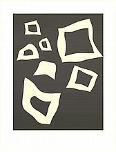 2006 Arp Constellation-7 Blanches sur Noir Lithograph