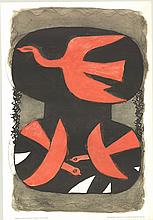 Braque Three Red Birds Poster