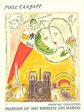 Chagall Paris View Lithograph