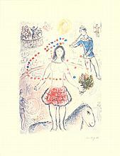 Chagall Circus Juggler Poster