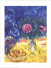 1995 Chagall Bouquet d'Ete Poster