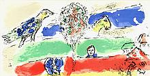 1975 Chagall The Green River Lithograph