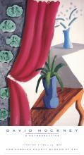 David Hockney - Still Life with Magenta Curtain - 1988
