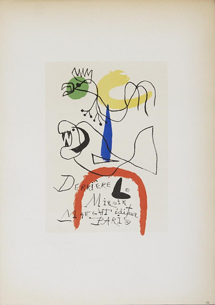 Joan miro derriere le miroir maeght editeur 1959 for Maeght derriere le miroir