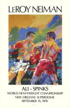 Leroy Neiman - Ali - Spinks - 1978 - SIGNED