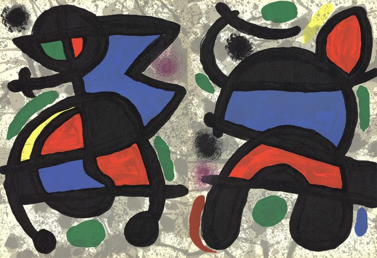 Joan miro derriere le miroir no 186 pg 14 19 1970 for Miro derriere le miroir