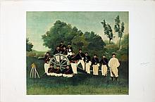 Henri Rousseau - Artillery Men (proof)