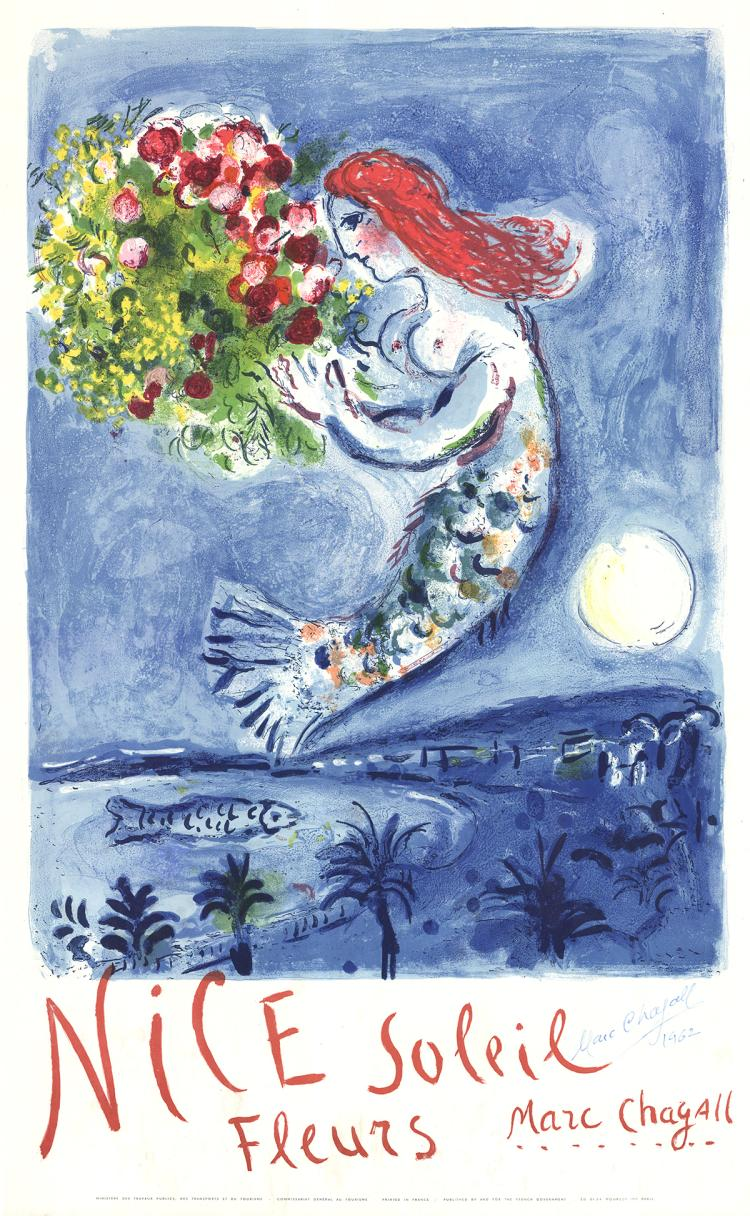Marc Chagall - Bay of Angels - 1962 - SIGNED