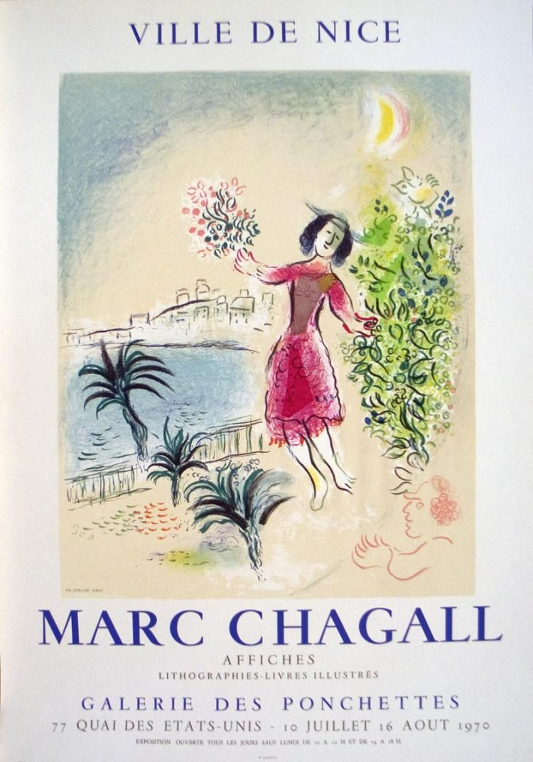 Marc Chagall - Bay of Nice - 1970