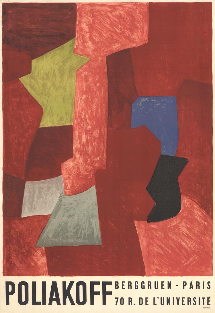 Serge Poliakoff - Berggruen - Paris - 1970