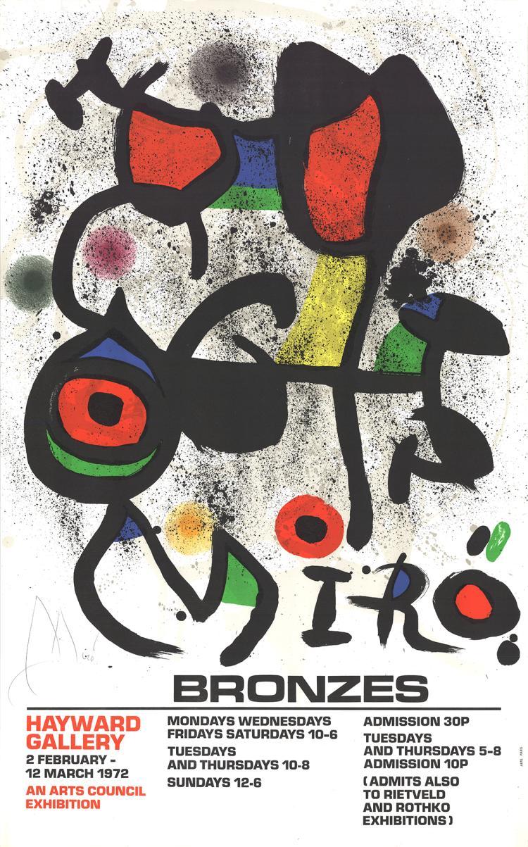 Joan Miro - Bronzes - 1972 - SIGNED