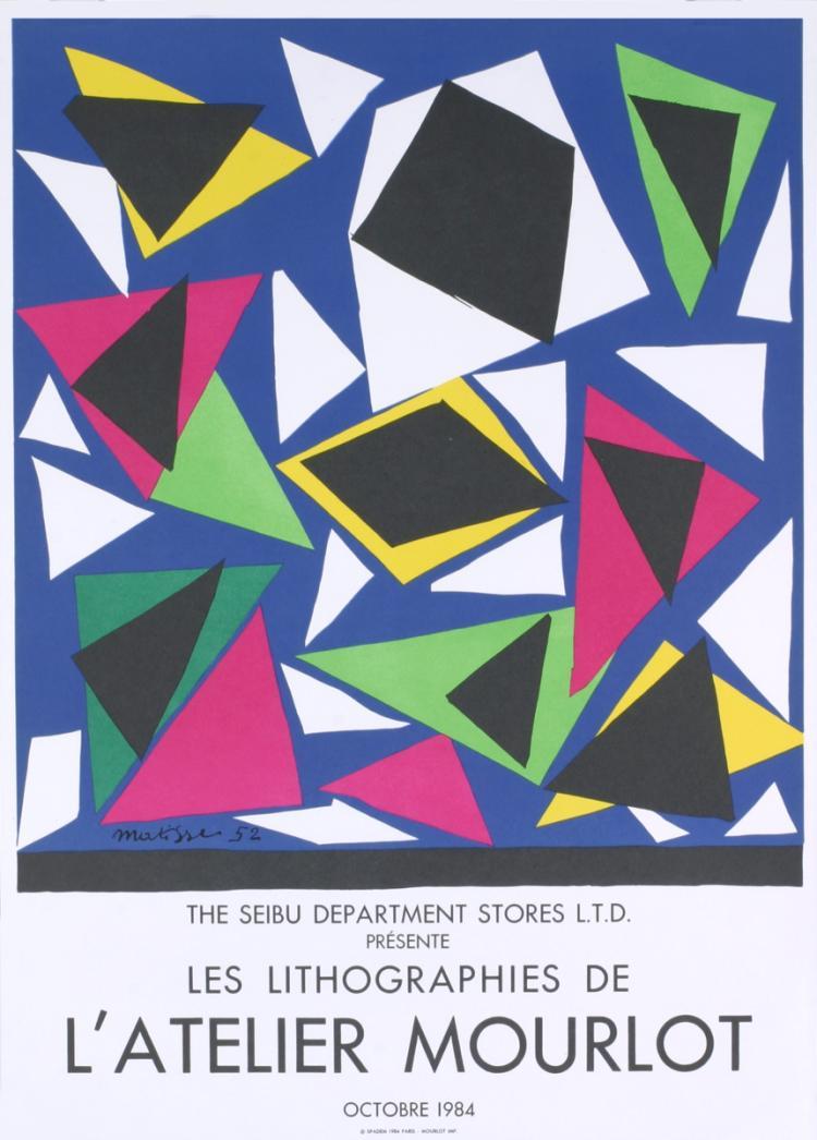 Henri Matisse - Centenial, Exposition d' Affiches, Papiers Decoupes - 1984