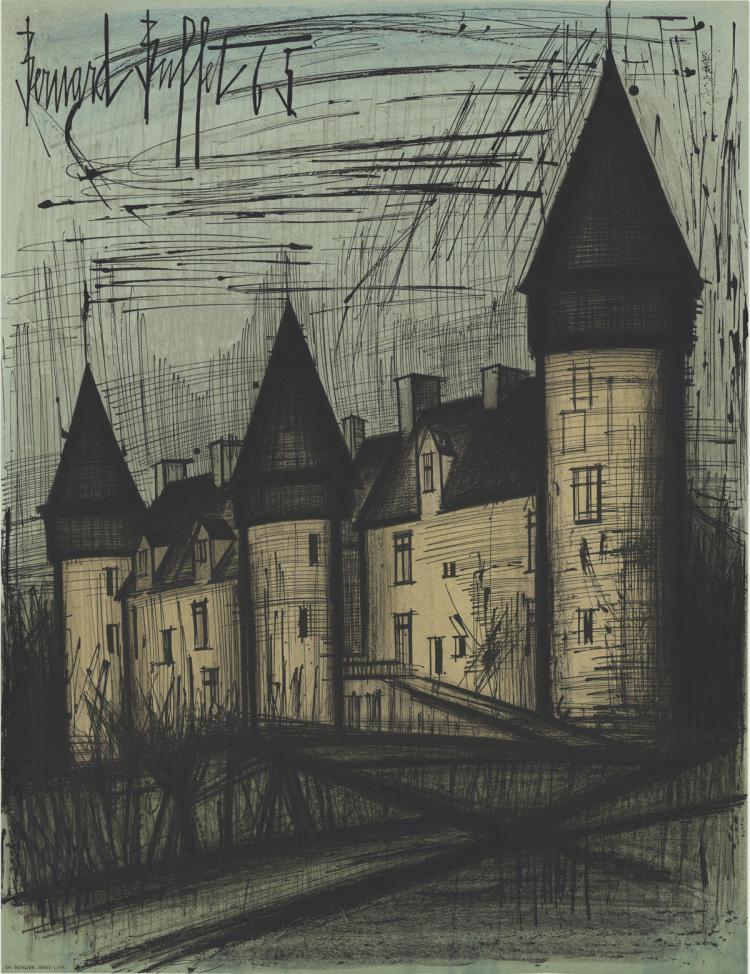 Bernard Buffet - Chateau de Culan - 1965
