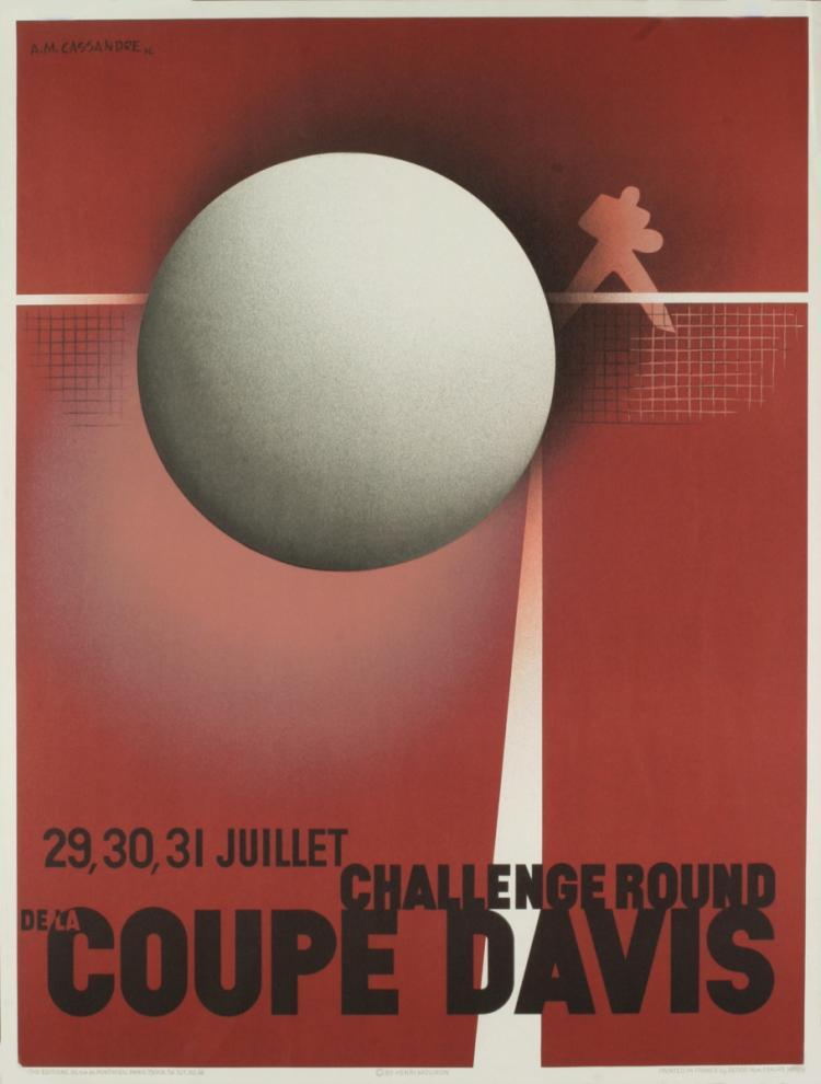 A.M. Cassandre - Coupe Davis (Restrike) - 1980