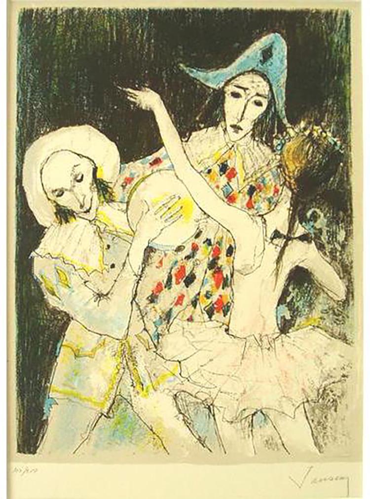 Jean Jansem - Danse Pour Arlequin - 1983 - SIGNED