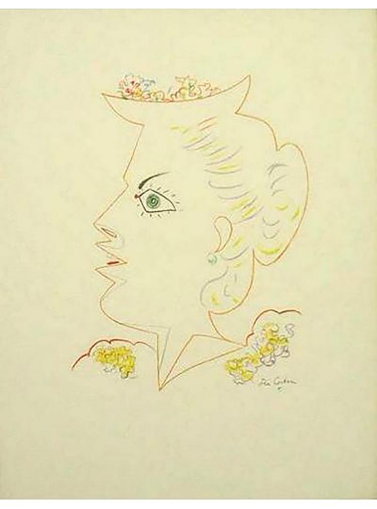 Jean Cocteau - Danseur De Flamenco Avec Une Epingle - 1953
