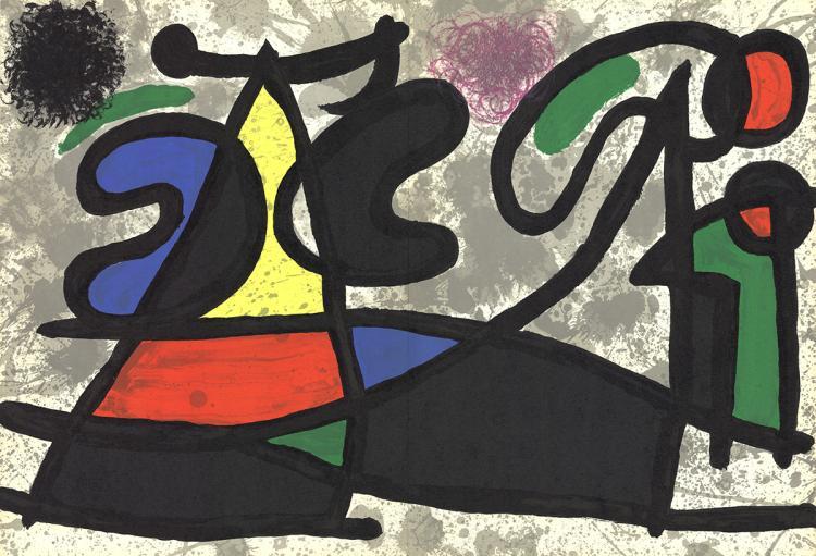 Joan Miro - Derriere le Miroir, no. 186, pg 4,5 - 1970