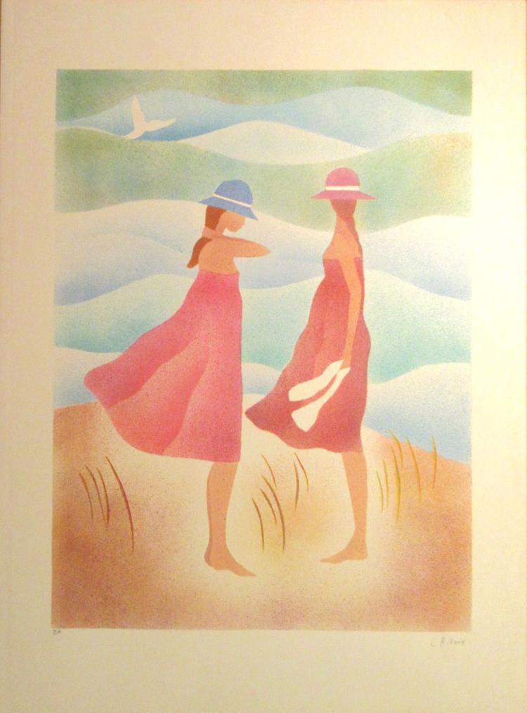 Claire Astaix - Deux Jeune Femmes - 1990 - SIGNED