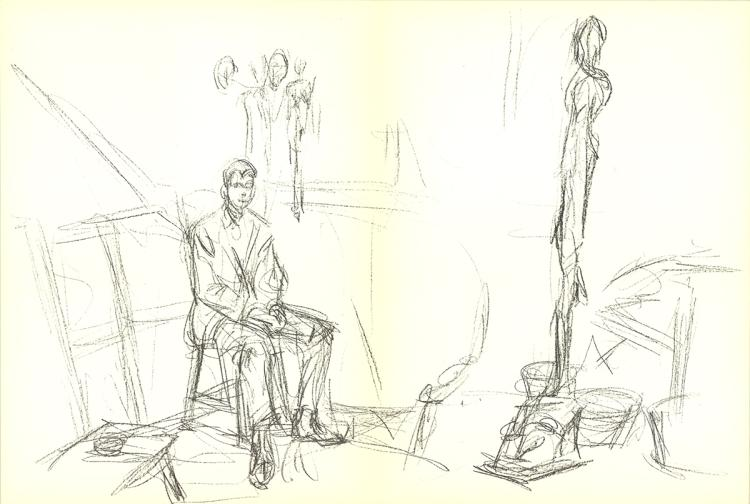 Alberto Giacometti - DLM No. 127 Pages 3,4 - 1961