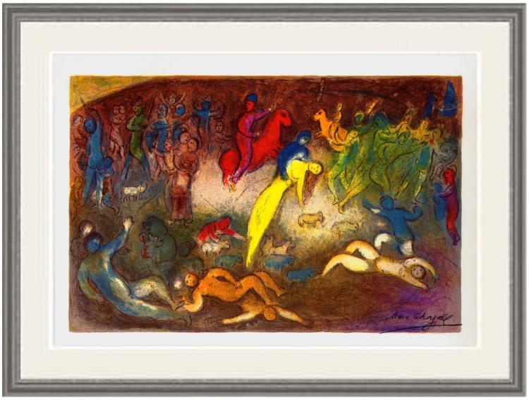 Marc Chagall - Enlevement de Chloe (Abduction of Chloe) - 1977